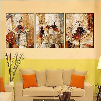 Set of Three 40*50cm Canvas Painting by Number Kit ART FUN S5 F3P021 AU STOCK