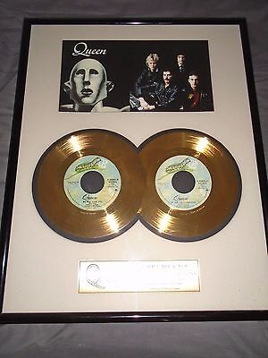 Queen - We Will Rock You / We Are The Champions 24ct Gold Double Award Limited