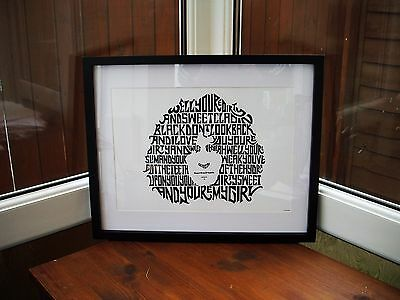 T.Rex/Marc Bolan/Bang A Gong (Get It On) A3 size typography art print/poster