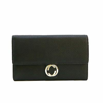 New Agnes PU Embellished Purse Flap Over Basic Lady Wallet Coin Card Slot