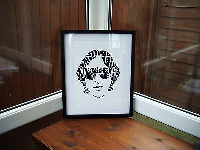 Happy Mondays/Shaun Ryder/Kinky Afro A3 size typography art print/poster