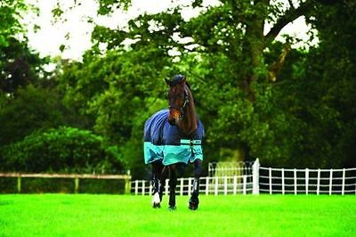 Horseware Amigo Mio Turnout Rug Lightweight 0g Black with Turquoise