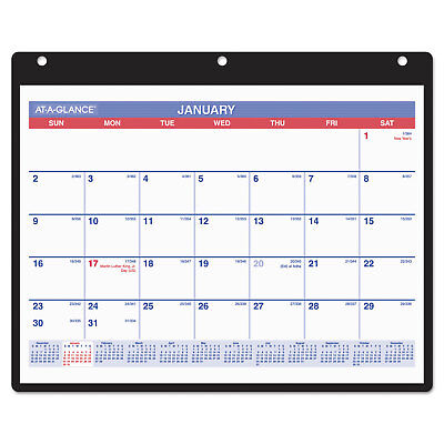 At-A-Glance Monthly Desk/Wall Calendar 11 x 8 1/4 White 2018 SK800