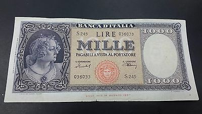Italy 1000 Lire  Banknote 1948