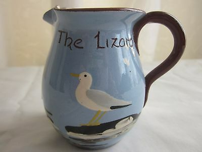 THE LIZARD CORNWALL Babbacombe Pottery Creamer Jug Devon Blue Cream