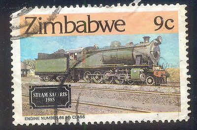 Zimbabwe 9C Used Stamp 32500 Steam Safaris 1985 Engine No 88