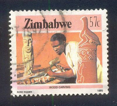 Zimbabwe 57C Used Stamp 32478 Wood Carving 1985