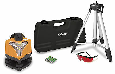 Johnson 40-0918 Manual Rotary Laser Level Kit w/ Tripod, Glasses, and Case