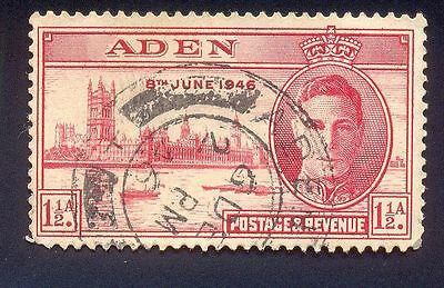 Aden 1 1/2 A Used Stamp 32918 Building River Ship K.g 6Th 1946