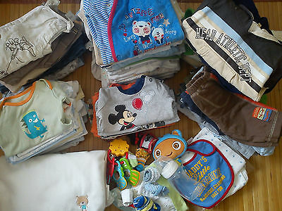 Huge NICE 133x summer/winter bundle baby boy clothes 0/3/6 MTHS 3/6+MTHS (9)P