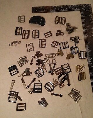 Estate Lot * Antique Victorian Belt Shoe Buckles Cut Steel * Free Shipping! *