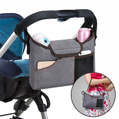 Stroller Organiser , Jerrybox Pram Buggy Buddy Storage Bag With Mobile Phone Hol