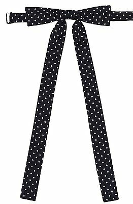 YASIDI Ladies Long Pre-Tied Bow Tie Solid dots Adjustable Bowtie for Women L338
