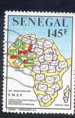 Senegal 145F Used Stamp 34914 Flags Envelopes