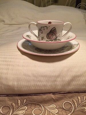 Tiffany And Co. Lily Of The Valley Porcelain Child Set Plate, Mug, Bowl ! L@@k!!