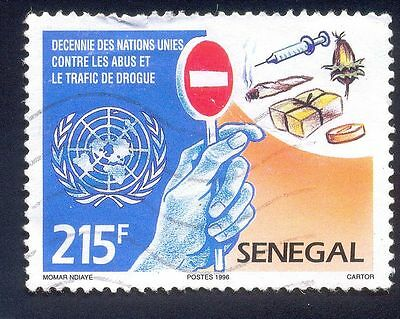 Senegal 215F Used Stamp 34831 Traffic De Drouge Injection