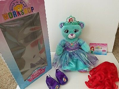Build A Bear Ariel Disney Princess Limited Edition Complete Retired