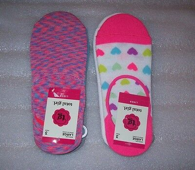 Girls Total Girl Liner Socks Multiple Patterns 3 Pairs Per Pack New With Tags