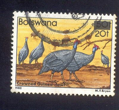 Botswana 20T Used Stamp 33314 Crowned Guinea Fowl Bird