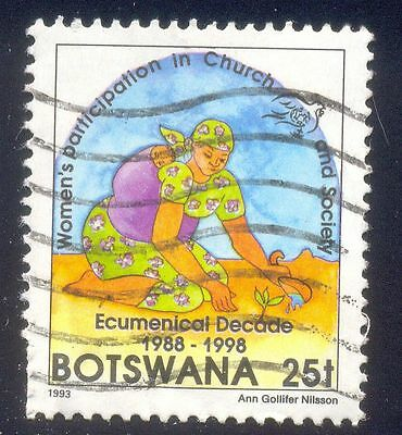 Botswana 25T Used Stamp 33333 Womens Participation Church
