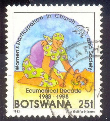 Botswana 25T Used Stamp 33330 Womens Participation Church