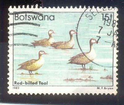 Botswana 15T Used Stamp 33366 Red Billed Teal Bird
