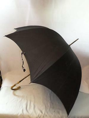 *Antique Bamboo Umbrella- by Jonathan Howell- Hallmarked Silver Collar - CLARK*