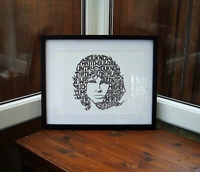 Jim Morrison/The Doors/Light My Fire A3 size typography art print/poster