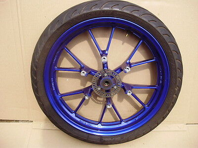 Yamaha Yzf R125 R 125 Front Wheel & Michelin Pilot Tyre  ( Blue ) 2015