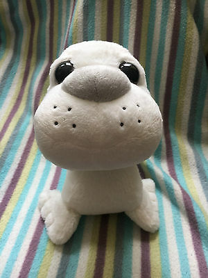 New Limited Edition Cute Big Eyed White Baby Seal Stuffed Plush soft toy