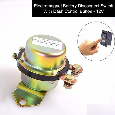 DC12V Car Auto Battery Switch Electromagnetic Disconnect Master kill Dash Button