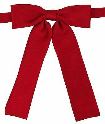 YASIDI Womens Solid Color Bow Ties - Various Colors B954 Deep Red
