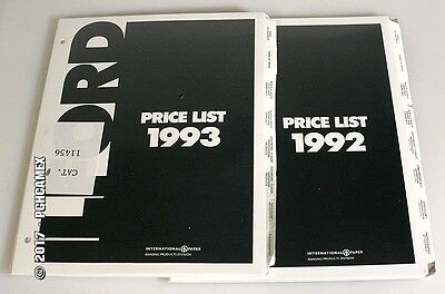Ilford Complete Product Guides - 1992   1993