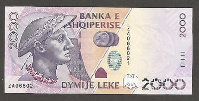 Albania 2000 Leke 2007; UNC; P-74; L-B320a; King of Illyria, plant,amphitheater