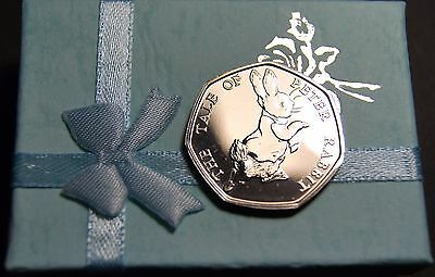 2017 NEW PETER RABBIT ROYAL MINT BEATRIX POTTER 50p BU COIN + FIRST DAY COVER
