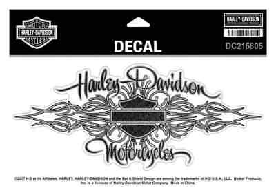Harley-Davidson Signature Glitter Decal, Size XL 8.125 x 3.625 inches DC215805
