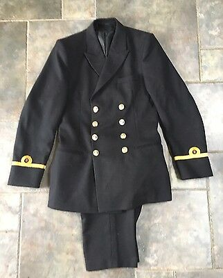 Vintage Men's Royal Naval Officers Uniform Barathea British Navy