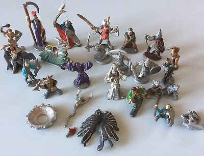 Vintage Dungeons & Dragons Ral Partha Metal Miniature Figures Lot 1970's-80's