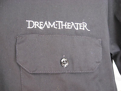 Dream Theater Shirt Dramatic Turn of Events Button Front Dickies Work Black EUC