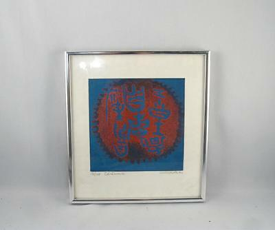 1971 17/45 Hand Signed Print/litho Titled ``ceremonie`` Mid Century Modern