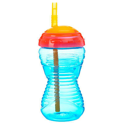 Munchkin Feeding Mighty Grip Straw Cup - 10oz (Blue,Green, Orange & Pink)