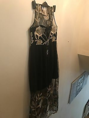CHI CHI LONDON CURVE floral embroidered dress, size 18, brand new with tags