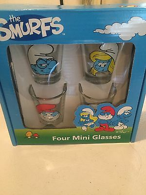 Smurf Shot Glasses 4 Pack
