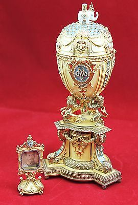 """Large RARE Faberge Imperial Danish Jubilee Egg - 10"""""""