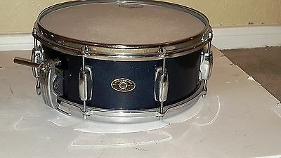 Late 50s Slingerland Super Gene Krupa Radio King Snare Drum 3ply Blue Sparkle