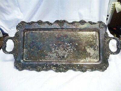 Large Vintage W&S Blackinton Silverplate Victoria Butler's Serving Tray