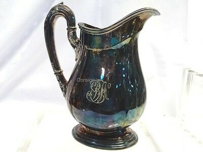 Vintage Reed & Barton Silverplate Small Creamer Pitcher #4070 Monogrammed