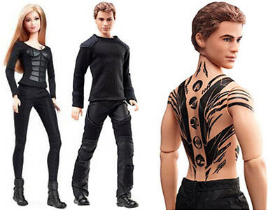 Mattel Divergent Tris And Four Doll Black Label Collector Barbie Doll Nib W/coa