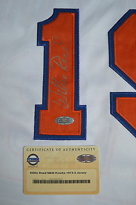 WILLIS REED signed NEW YORK KNICKS Jersey STEINER COA auto autographed NBA Final
