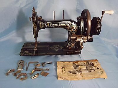 Antique Frister and Rossmann Hand Crank Sewing Machine 1272687